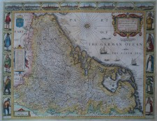 "XVII Provinci�n, ""A New Mape of Ye XVII Provinces of Low Germanie, mended a new in many places, by J. Speed"" - John Speed, Petrus Kaerius"